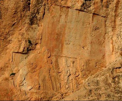 Reliefs et inscriptions Sar Mashhad